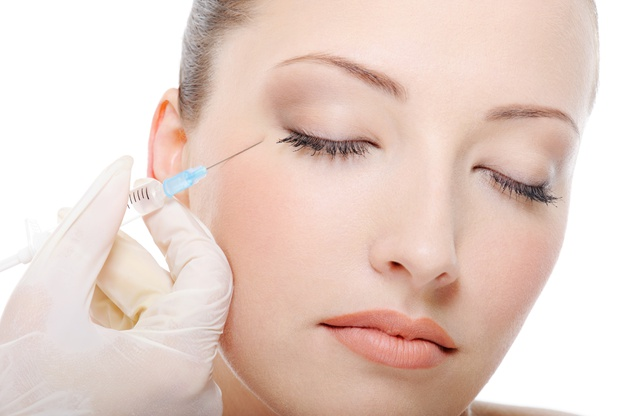 botox injection on young woman